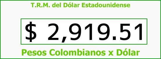T.R.M. del Dólar para hoy Miércoles 12 de Octubre de 2016