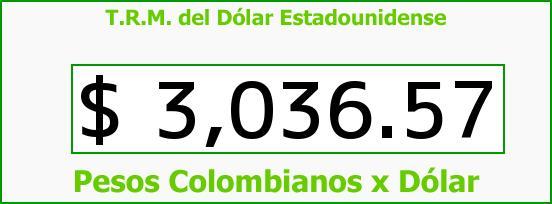 T.R.M. del Dólar para hoy Miércoles 13 de Abril de 2016