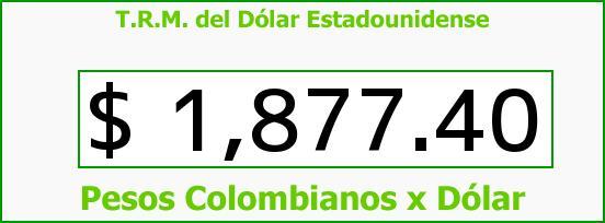 T.R.M. del Dólar para hoy Miércoles 13 de Agosto de 2014