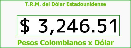 T.R.M. del Dólar para hoy Miércoles 13 de Enero de 2016