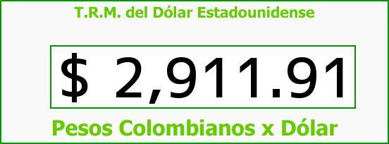 T.R.M. del Dólar para hoy Miércoles 13 de Julio de 2016
