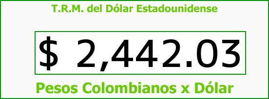 T.R.M. del Dólar para hoy Miércoles 14 de Enero de 2015