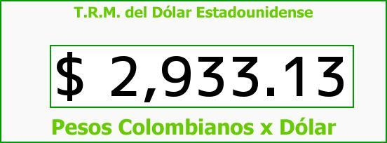 T.R.M. del Dólar para hoy Miércoles 14 de Junio de 2017