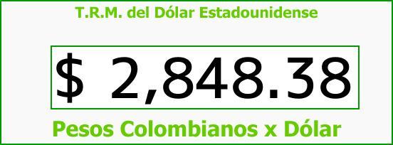 T.R.M. del Dólar para hoy Miércoles 14 de Marzo de 2018