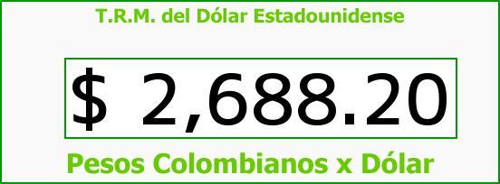 T.R.M. del Dólar para hoy Miércoles 15 de Julio de 2015