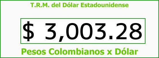 T.R.M. del Dólar para hoy Miércoles 15 de Junio de 2016