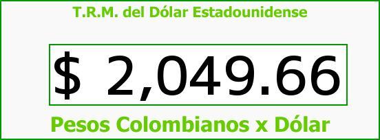 T.R.M. del Dólar para hoy Miércoles 15 de Octubre de 2014