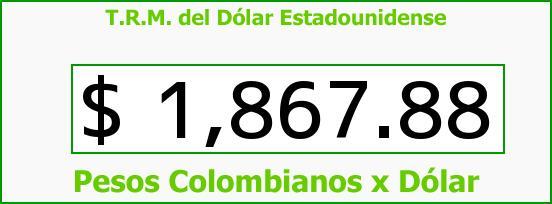 T.R.M. del Dólar para hoy Miércoles 16 de Julio de 2014
