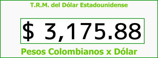 T.R.M. del Dólar para hoy Miércoles 16 de Marzo de 2016