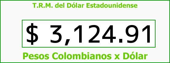T.R.M. del Dólar para hoy Miércoles 16 de Noviembre de 2016