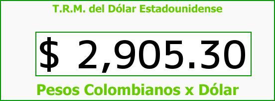T.R.M. del Dólar para hoy Miércoles 17 de Agosto de 2016