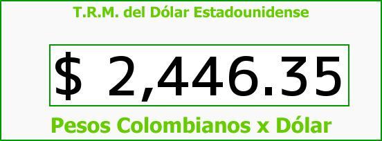 T.R.M. del Dólar para hoy Miércoles 17 de Diciembre de 2014