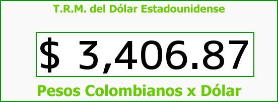 T.R.M. del Dólar para hoy Miércoles 17 de Febrero de 2016