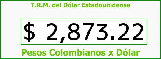 T.R.M. del Dólar para hoy Miércoles 17 de Mayo de 2017