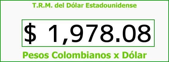 T.R.M. del Dólar para hoy Miércoles 17 de Septiembre de 2014