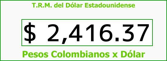 T.R.M. del Dólar para hoy Miércoles 18 de Febrero de 2015