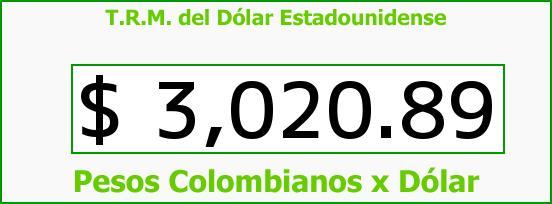 T.R.M. del Dólar para hoy Miércoles 18 de Mayo de 2016