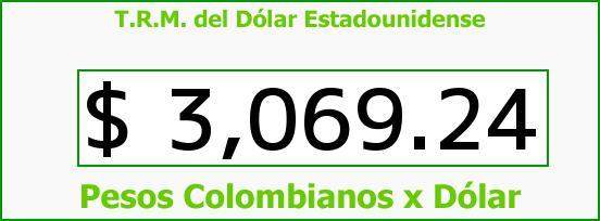 T.R.M. del Dólar para hoy Miércoles 18 de Noviembre de 2015