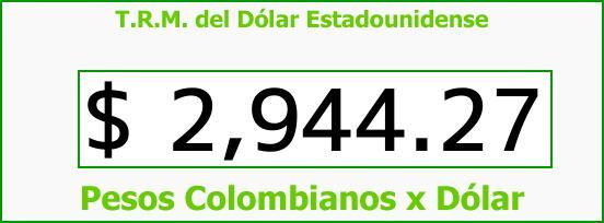 T.R.M. del Dólar para hoy Miércoles 18 de Octubre de 2017