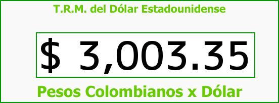 T.R.M. del Dólar para hoy Miércoles 19 de Agosto de 2015
