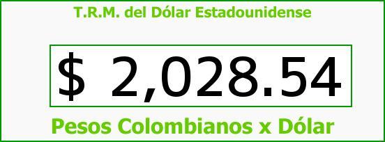T.R.M. del Dólar para hoy Miércoles 19 de Febrero de 2014
