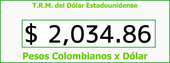 T.R.M. del Dólar para hoy Miércoles 19 de Marzo de 2014