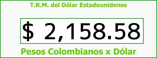 T.R.M. del Dólar para hoy Miércoles 19 de Noviembre de 2014