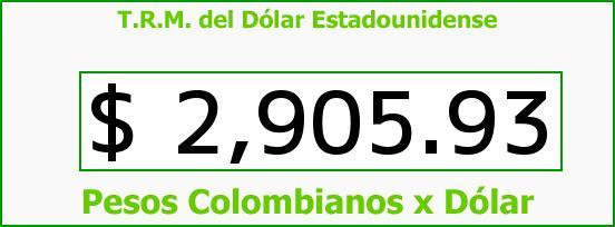 T.R.M. del Dólar para hoy Miércoles 19 de Octubre de 2016