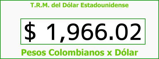 T.R.M. del Dólar para hoy Miércoles 2 de Abril de 2014