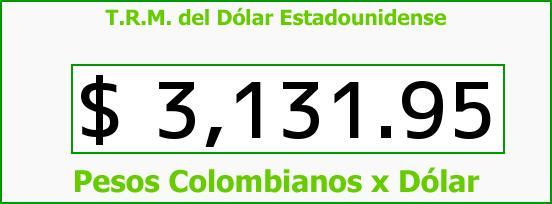 T.R.M. del Dólar para hoy Miércoles 2 de Diciembre de 2015