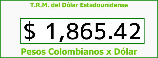 T.R.M. del Dólar para hoy Miércoles 2 de Julio de 2014