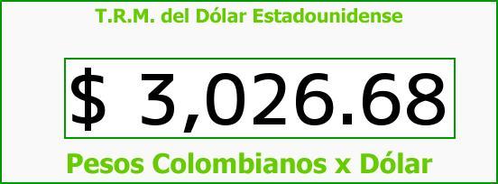 T.R.M. del Dólar para hoy Miércoles 2 de Noviembre de 2016