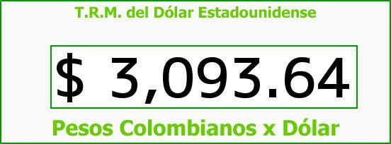 T.R.M. del Dólar para hoy Miércoles 2 de Septiembre de 2015