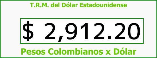T.R.M. del Dólar para hoy Miércoles 20 de Abril de 2016