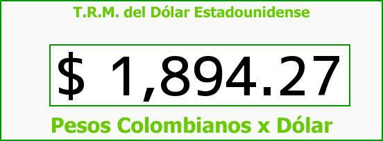 T.R.M. del Dólar para hoy Miércoles 20 de Agosto de 2014