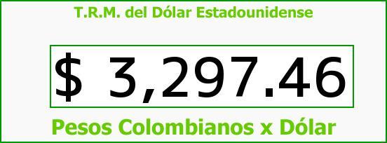 T.R.M. del Dólar para hoy Miércoles 20 de Enero de 2016