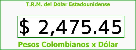 T.R.M. del Dólar para hoy Miércoles 20 de Mayo de 2015