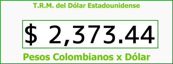 T.R.M. del Dólar para hoy Miércoles 21 de Enero de 2015