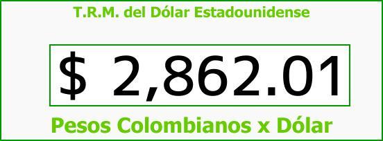 T.R.M. del Dólar para hoy Miércoles 21 de Febrero de 2018