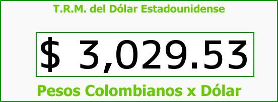 T.R.M. del Dólar para hoy Miércoles 21 de Junio de 2017
