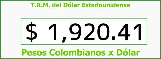 T.R.M. del Dólar para hoy Miércoles 21 de Mayo de 2014