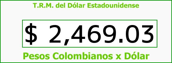 T.R.M. del Dólar para hoy Miércoles 22 de Abril de 2015