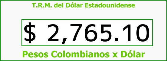 T.R.M. del Dólar para hoy Miércoles 22 de Julio de 2015