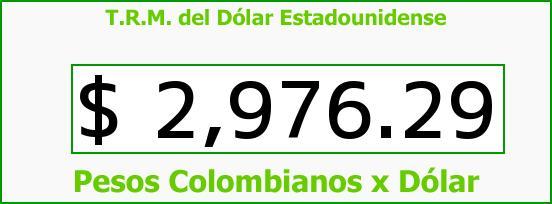 T.R.M. del Dólar para hoy Miércoles 22 de Junio de 2016