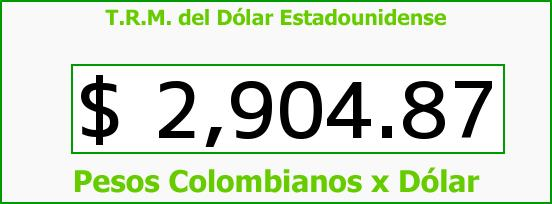 T.R.M. del Dólar para hoy Miércoles 22 de Marzo de 2017