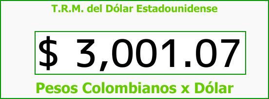 T.R.M. del Dólar para hoy Miércoles 22 de Noviembre de 2017