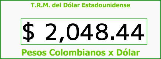 T.R.M. del Dólar para hoy Miércoles 22 de Octubre de 2014