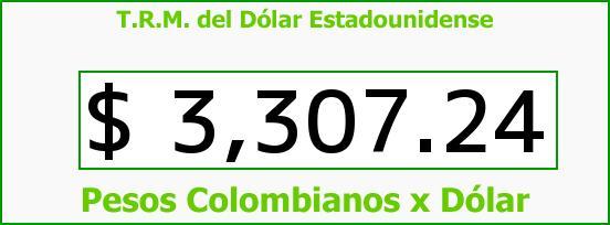 T.R.M. del Dólar para hoy Miércoles 23 de Diciembre de 2015