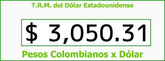 T.R.M. del Dólar para hoy Miércoles 23 de Marzo de 2016