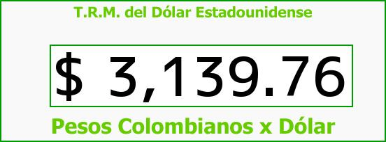 T.R.M. del Dólar para hoy Miércoles 23 de Noviembre de 2016